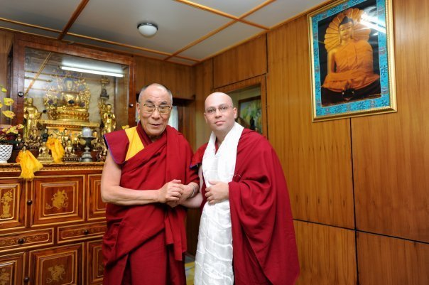 photo take after the private audience with HH Dalai Lama June 2009