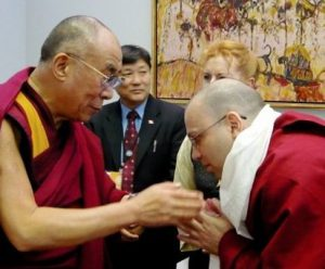 Meeting the Dalai Lama for the second time